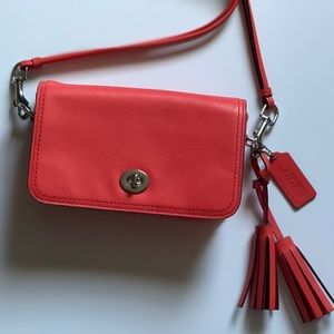 Coach Legacy Penny Leather Cross-Body with Tassels